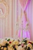 D'intérieur extérieur de décor de mariage Photographie stock libre de droits