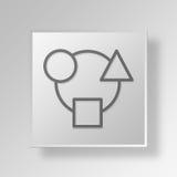 3D integration Button Icon Concept. 3D Symbol Gray Square integration Button Icon Concept Royalty Free Stock Photography