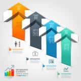 3d intensifican negocio del diagrama de la escalera de la flecha Ilustración del vector libre illustration