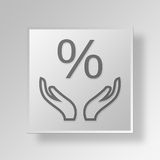 3D interest rate icon Business Concept. 3D Symbol Gray Square interest rate icon Business Concept Royalty Free Stock Image