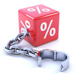 3d Interest rate leg chain Royalty Free Stock Photo