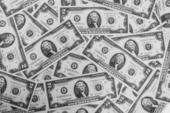 3 d interesy wiele przedmiotów dolarów Obraz Stock