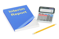 3D Interim report concept Royalty Free Stock Photography