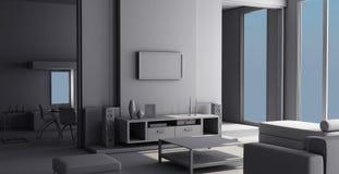 3d interior Imagens de Stock