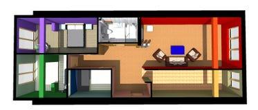3D interior design B/W Immagini Stock