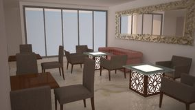 3D Interior Royalty Free Stock Image