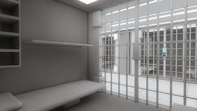 3d interior jail Stock Photos