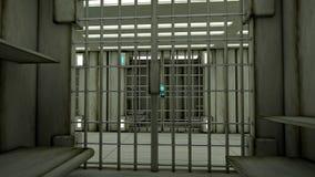 3d interior jail Royalty Free Stock Photo