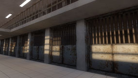 3d interior jail Royalty Free Stock Image