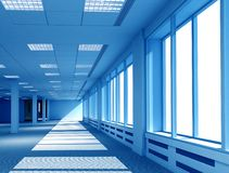 3D interior office space royalty free illustration