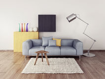 3d interior Stock Photo