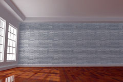 Interior room with brick wall Stock Photo