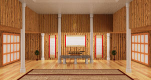 3d interior room of samurai style include japanese katana sword. Royalty Free Stock Photography