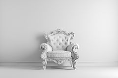 3d interior with vintage arm chair. 3d vintage arm chair interior render Stock Photo