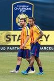` 2017 d'international l FC Barcelona de tasse de champions contre Juventus images stock