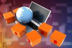 3d internet shop illustration Royalty Free Stock Image