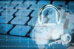 3 d internetu wytapiania pojęcia ochrony Zdjęcia Stock