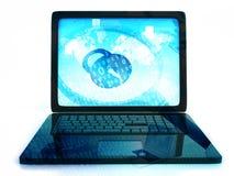 3 d internetu wytapiania pojęcia ochrony Fotografia Stock