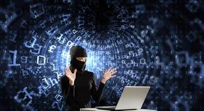 3 d internetu wytapiania pojęcia ochrony Obrazy Stock