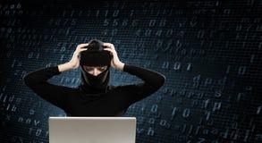 3 d internetu wytapiania pojęcia ochrony Zdjęcia Royalty Free