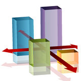 3d Intersection Chart Royalty Free Stock Images