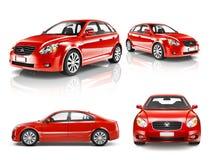 3D Inzameling van Luxe Rode Sportwagen stock illustratie