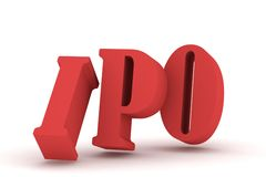3d IPO Royalty Free Stock Photo