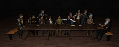 3D Iray Odpłacają się Ostatnia kolacja Zdjęcia Royalty Free