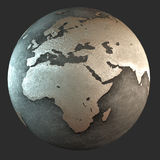 3D iron earth (Africa) Royalty Free Stock Images