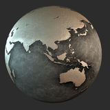 3D iron earth (asia) Stock Image