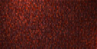 3d irregular grungy mosaic wall in deep red Royalty Free Stock Photos