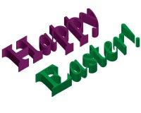 3d iscrizione pasqua felice Immagine Stock Libera da Diritti