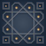 3D Islamic ornaments. Arabic geometric pattern. with empty space in the middle for your writing stock illustration