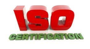 3d ISO 9001 stock illustratie