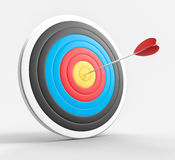 3D Isolated Bullseye Background Stock Photos
