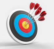3D Isolated Bullseye Background Royalty Free Stock Photography
