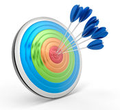 3D Isolated Bullseye Background Royalty Free Stock Photos