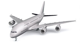 3D Isolated Commercial Plane Royalty Free Stock Photos