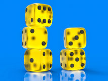 3D Isolated Dices Group. Background Royalty Free Stock Photo