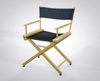3D Isolated Film Director Chair. Hollywood Studio Movie Set Royalty Free Stock Photography