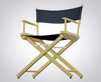 3D Isolated Film Director Chair. Hollywood Studio Movie Set Stock Photo