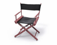 3D Isolated Film Director Chair. Hollywood Studio Movie Set Stock Image