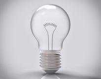 3D Isolated Light Bulb Stock Photography