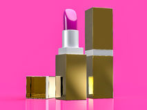 3D Isolated Lipstick Background Stock Image
