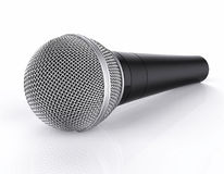3D Isolated Microphone. 3D Isolated Realistic Microphone Background Royalty Free Stock Images