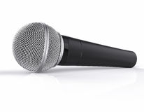 3D Isolated Microphone. 3D Isolated Realistic Microphone Background Royalty Free Stock Photo