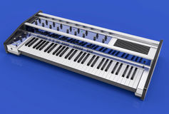 3D Isolated Modern Keyboard Illustration. Music instrument conce Stock Photo