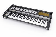 3D Isolated Modern Keyboard Illustration. Music instrument conce Stock Image