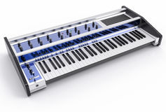 3D Isolated Modern Keyboard Illustration. Music instrument conce Stock Images