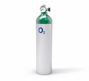 3D Isolated Oxygen Tank. Hospital equipment illustration Royalty Free Stock Image